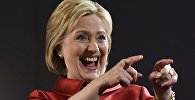Экс-госсекретарь Хиллари Клинтон во время предвыборной кампании в Лас-Вегасе. Архивное фото