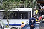 Последствия взрыва у автобусной остановки в Стамбуле, Турция