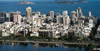 Вид на Рио-де-Жанейро из салона вертолета. Архивное фото
