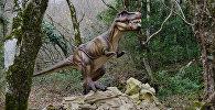 Макет динозавра в заповеднике. Архивное фото