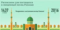 Расписание для постящихся в священный месяц Рамазан