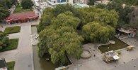 Вид на фонтан у ЦУМа в городе Бишкек. Архивное фото