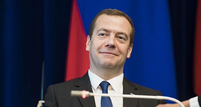 Архивное фото председателя правительства Российской Федерации Дмитрия Медведева
