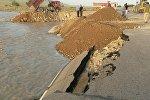 Чу дарыясы нугунан көтөрүлүп, Бишкек — Нарын — Торугарт автожолунун бир бөлүгүн жеп кетти.