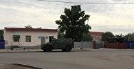 Бронемашина национальной гвардии в Актобе, Казахстан. Архивное фото