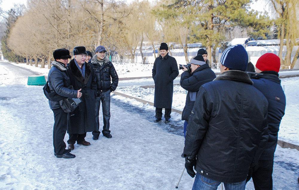 Фото с жителями Бишкека