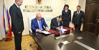 Председатель ГСИН Алик Мамыркулов во время встреч с руководителями пенитенциарных ведомств России и Белоруссии в Москве