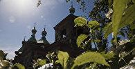 Вид на Свято-Троицкую православную церковь в городе Каракол. Архивное фото