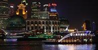 Ночной вид на Шанхай. Архивное фото
