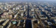 Вид с высоты на улицы Байтик Баатыра, Юсупа Абдрахманова и Абдынасыра Елебесова города Бишкек. Архивное фото