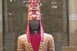 Экспонат выставки Золотой Воин. Сокровища сакских курганов. Архивное фото