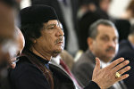Бывший ливийский лидер Муаммару Каддафи. Архивное фото