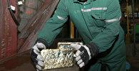 Слитки золота в хранилище золотоносного рудника. Архивное фото