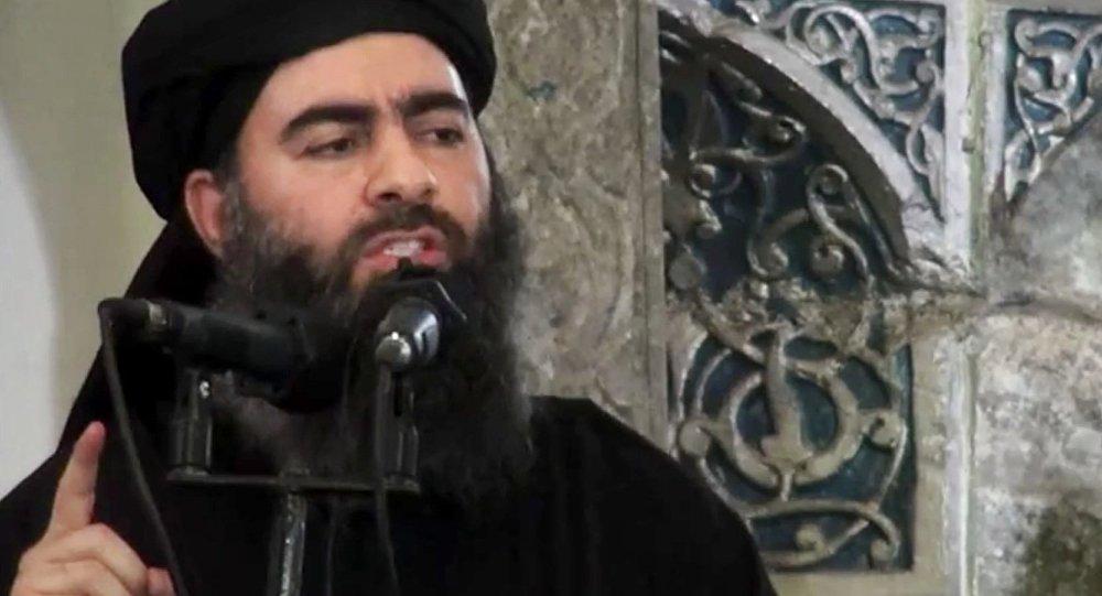 Лидер международной террористической группировки Абу Бакр аль-Багдади. Архивное фото