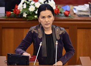 Жогорку Кеңештеги Ата Мекен фракциясынын депутаты Аида Салянованын архивдик сүрөтү