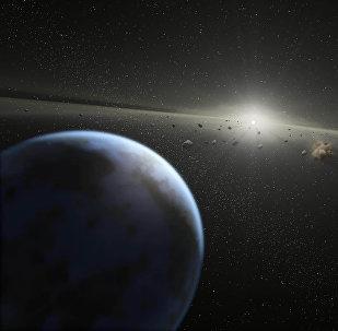 Астероиды в космосе. Архивное фото