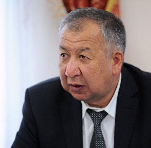 Архивное фото министра чрезвычайных ситуаций Кубатбека Боронова
