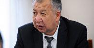 Министр чрезвычайных ситуаций Боронов Кубатбек. Архивное фото