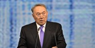 Президент Республики Казахстан Нурсултан Назарбаев выступает на пленарном заседании На пороге новой экономической реальности в рамках XX Петербургского международного экономического форума.