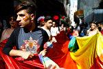 Түркиядагы гей-параддын катышуучулары