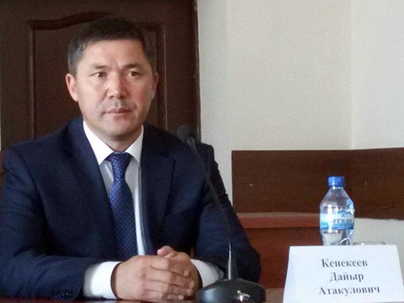 Новый полпред Даир Кенекеев на заседании коллегии полномочного представительства в Таласской области
