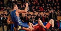 Борец во время соревнований. Архивное фото
