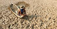 Последствия сильной засухи в Камбодже. Архивное фото