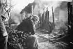 Великая отечественная война 1941-1945 годов. Лето 1943 года. Город Красноград (западнее Харькова) в первые часы после освобождения от немецко-фашистских захватчиков. Архивное фото