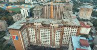 Пожар в высотном доме в центре Бишкека