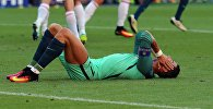 Игрок сборной Португалии Криштиану Роналду в матче группового этапа чемпионата Европы по футболу - 2016 между сборными командами Венгрии и Португалии.