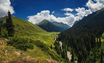 Ущелье Алтын-Арашан в Иссык-Кульской области. Архивное фото