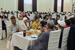 Ифтар на 200 человек от имени президента КР в городе Каракол