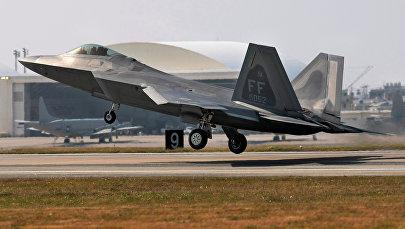 Истребитель военно-воздушной силы США. Архивное фото