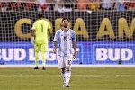 Нападающий сборной Аргентины Лионель Месси после финального матча Кубка Америки по футболу между Аргентиной и Чили. Архивное фото