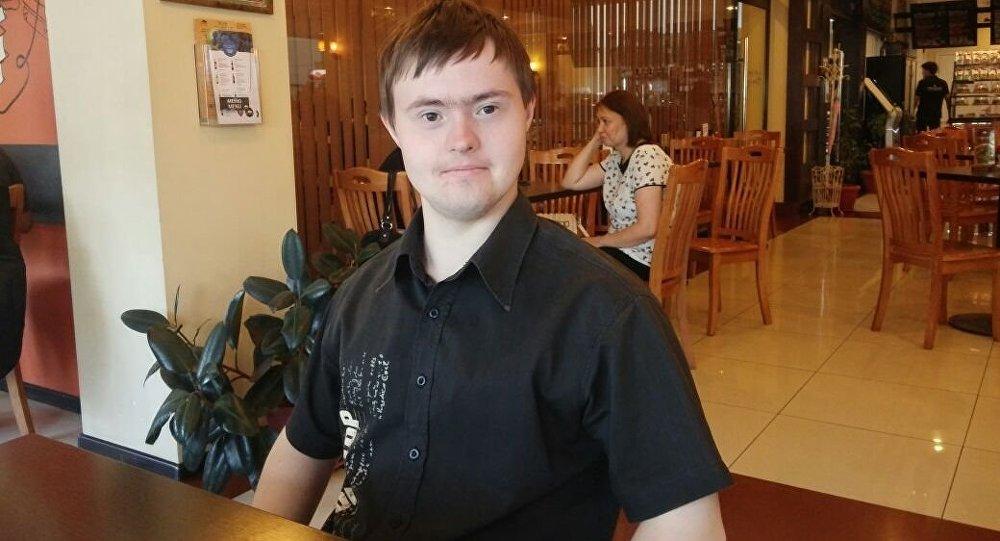 Кыргызстанец с синдромом дауна Александр Михайлюк