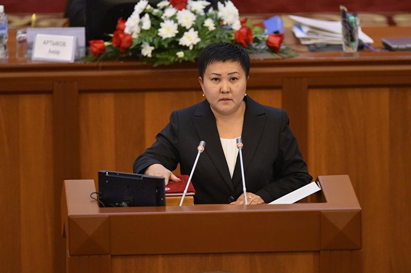 Депутат ЖК КР от партии Бир Бол Есенбаева Бакыт