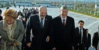 Президент Алмазбек Атамбаев жана Белоруссиянын башчысы Александр Лукашенко. Архив