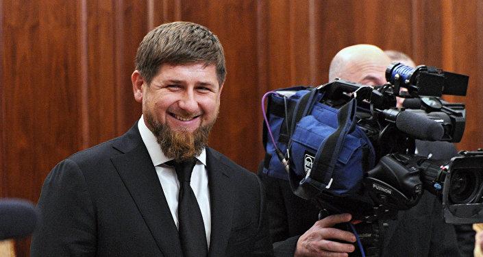 Чечен республикасынын биринчи президенти Ахмад Кадыров. Архив