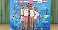 Кыргызстандык гимнаст кыздар Казакстандын Алматы шаарында өткөн Достык-2016 турниринде