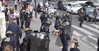Полиция Парижа дубинками разгоняли митингующих против трудовых реформ