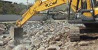 Берегоукрепительные и очистительные работы русла реки Аламудун