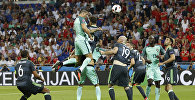 Португалиялык футболчу Криштиану Роналду оюнда