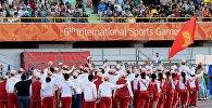 Кыргызстанские спортсмены на церемонии открытия VI Международных спортивных игр Дети Азии в Якутске, Россия. Архивное фото