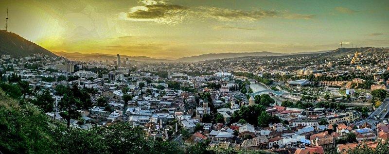 Панорама города Тбилиси
