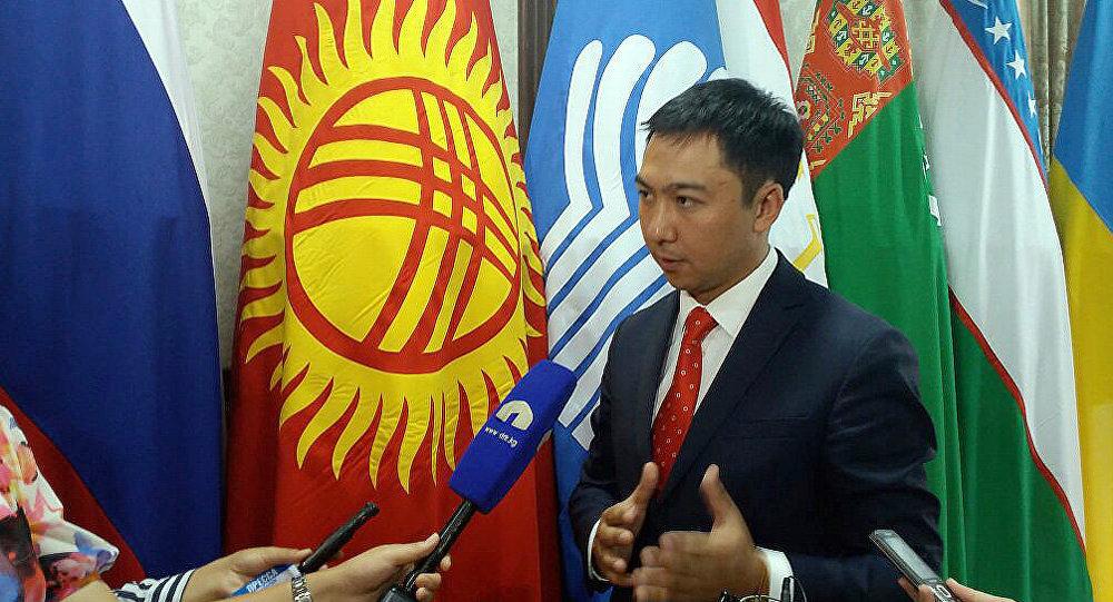 Заместитель министра культуры, туризма и информации, глава Департамента туризма Азамат Жаманкулов на заседании Совета по туризму государств-участников СНГ в Бишкеке