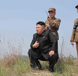 Түндүк Кореянын башчысы Ким Чен Ындын архивдик сүрөтү