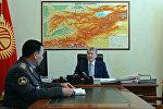 Президент Алмазбек Атамбаев ички иштер министри Кашкар Жунушалиевди кабыл алды