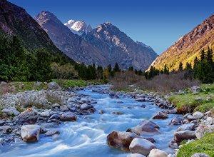 Речка в Национальном природном парке Ала-Арча. Архивное фото