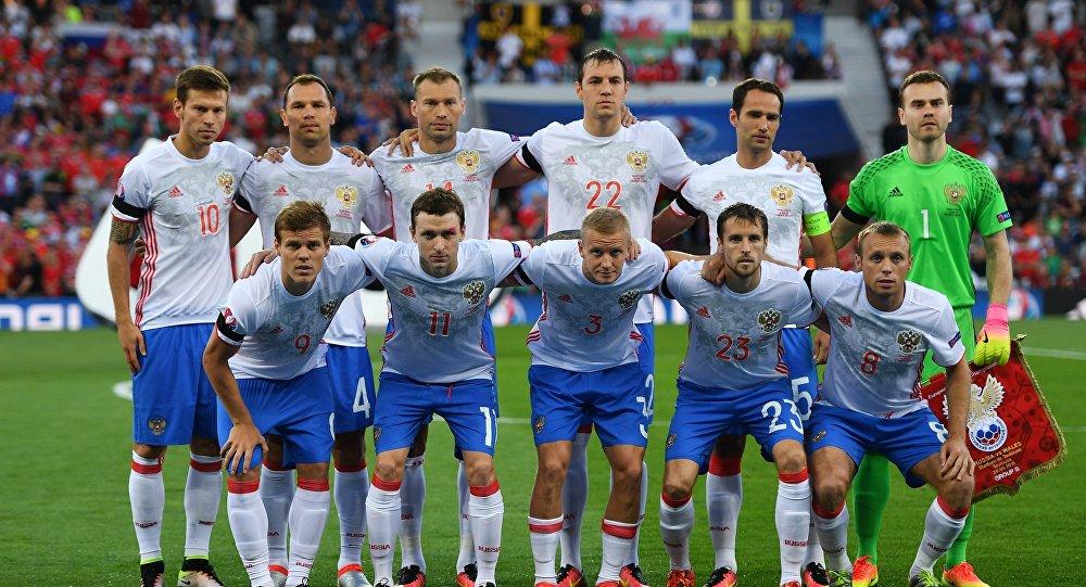 Игроки сборной России по футболу. Архивное фото