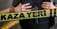 Сотрудник полиции Турции на месте происшествия. Архивное фото